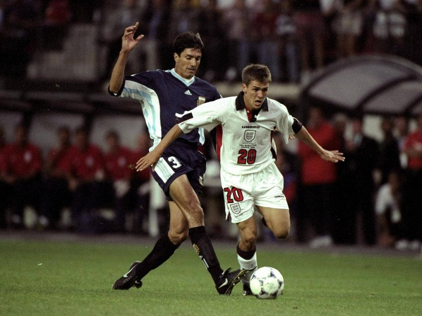 Michael Owen's goal against Argentina in 1998 has gone down as one of England's greatest ever World Cup goals