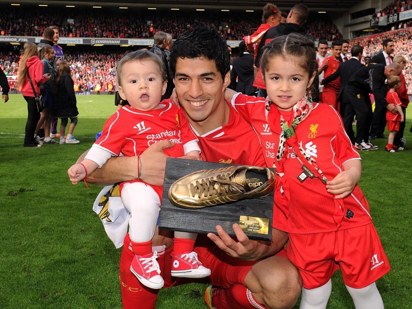 Luis Suarez won the golden boot for scoring 31 goals