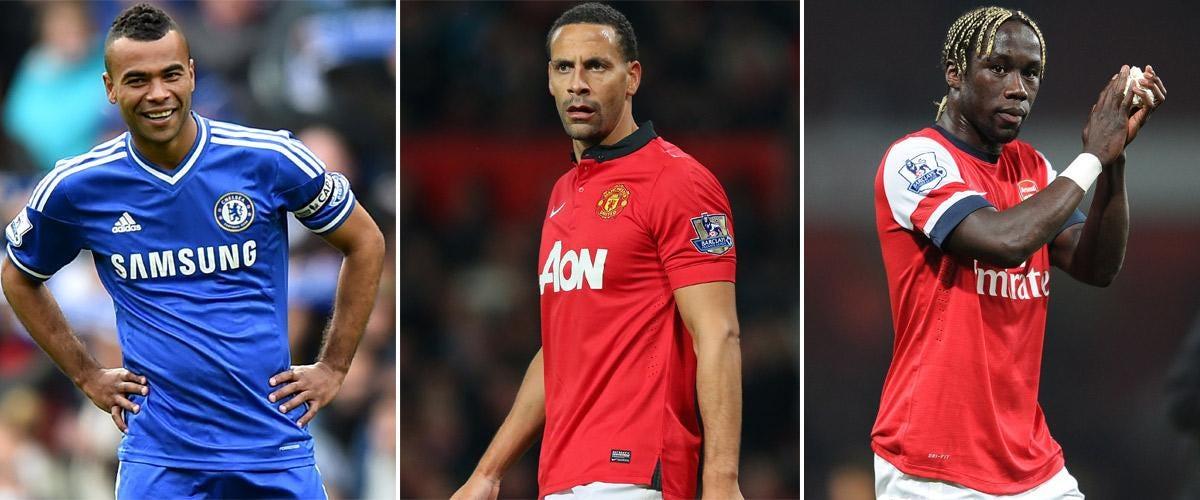 Ashley Cole, Rio Ferdinand and Bacary Sagna