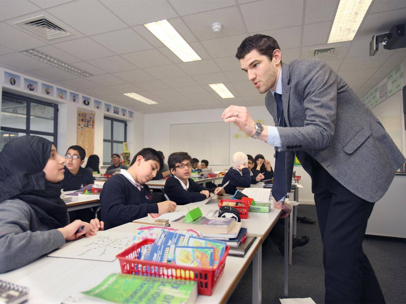 Top marks: a humanities lesson at Dixons Trinity Academy in Leeds