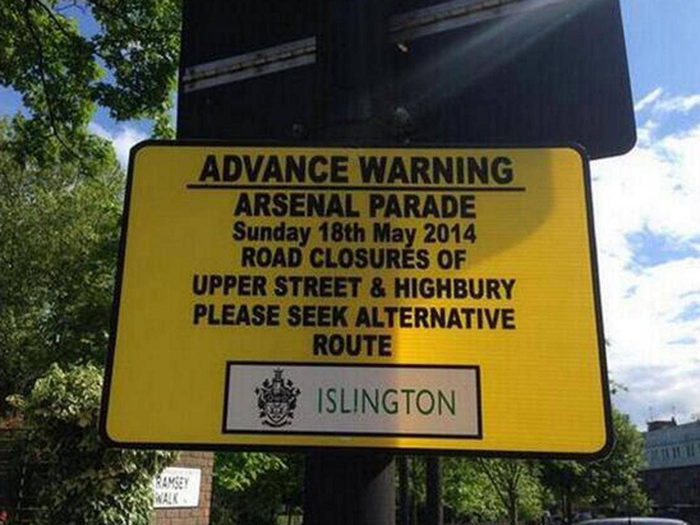 Arsenal's 'advance warning' of the parade