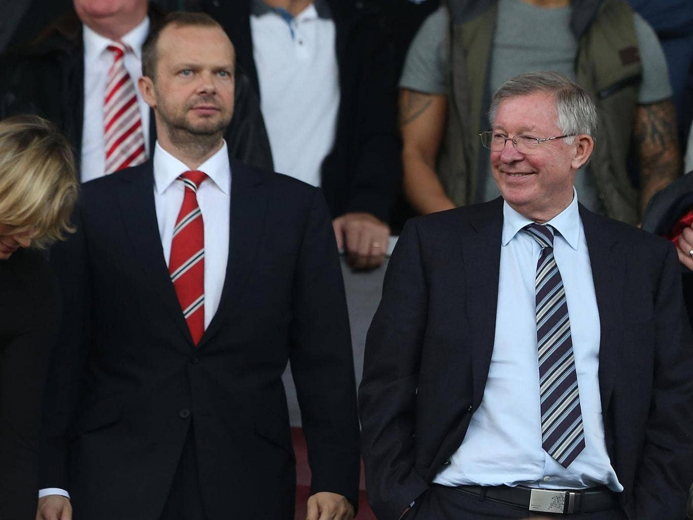 Manchester United chief executive Ed Woodward and former manager Sir Alex Ferguson
