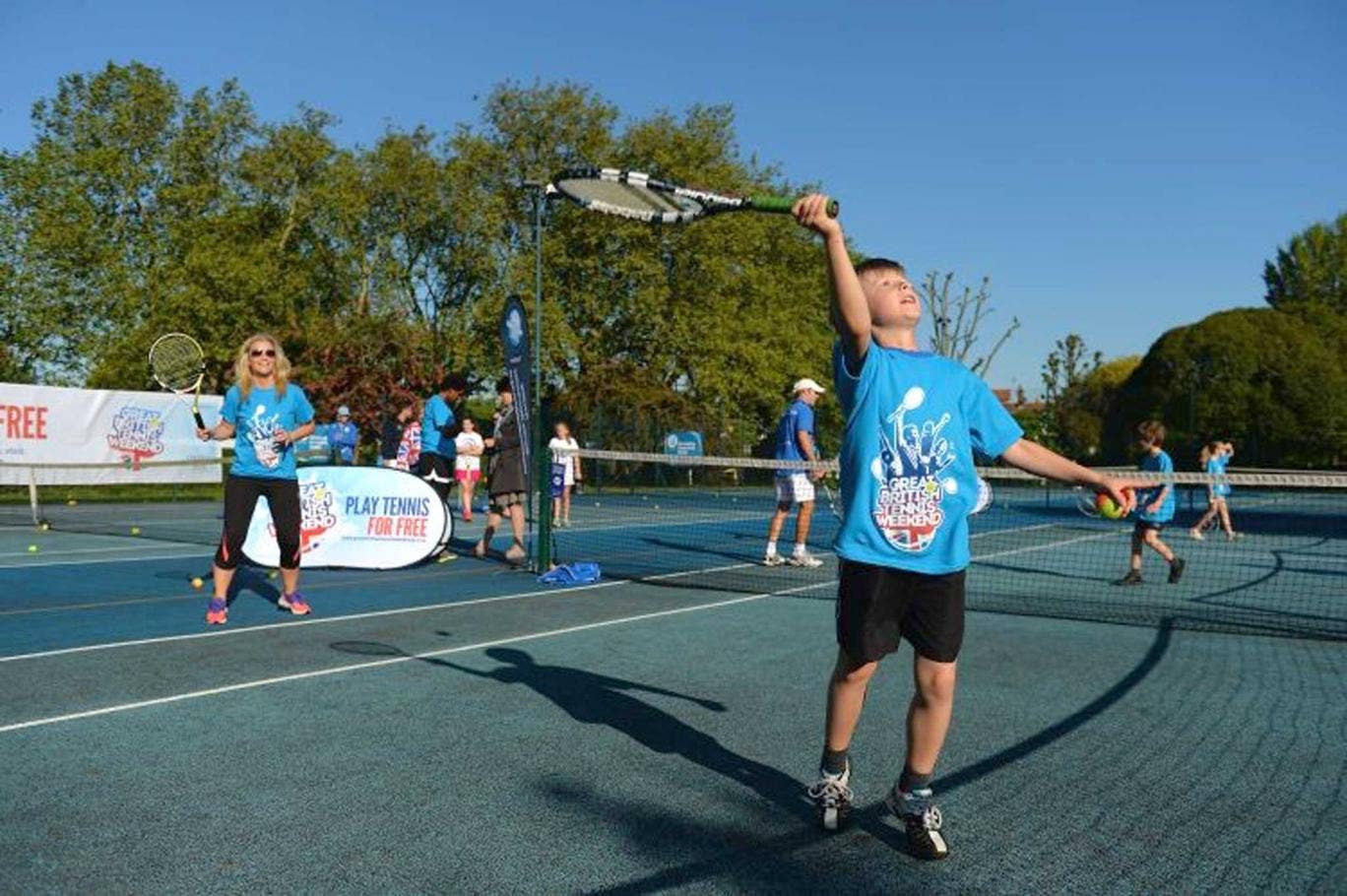 What a racquet: David Lloyd is offering free coaching
