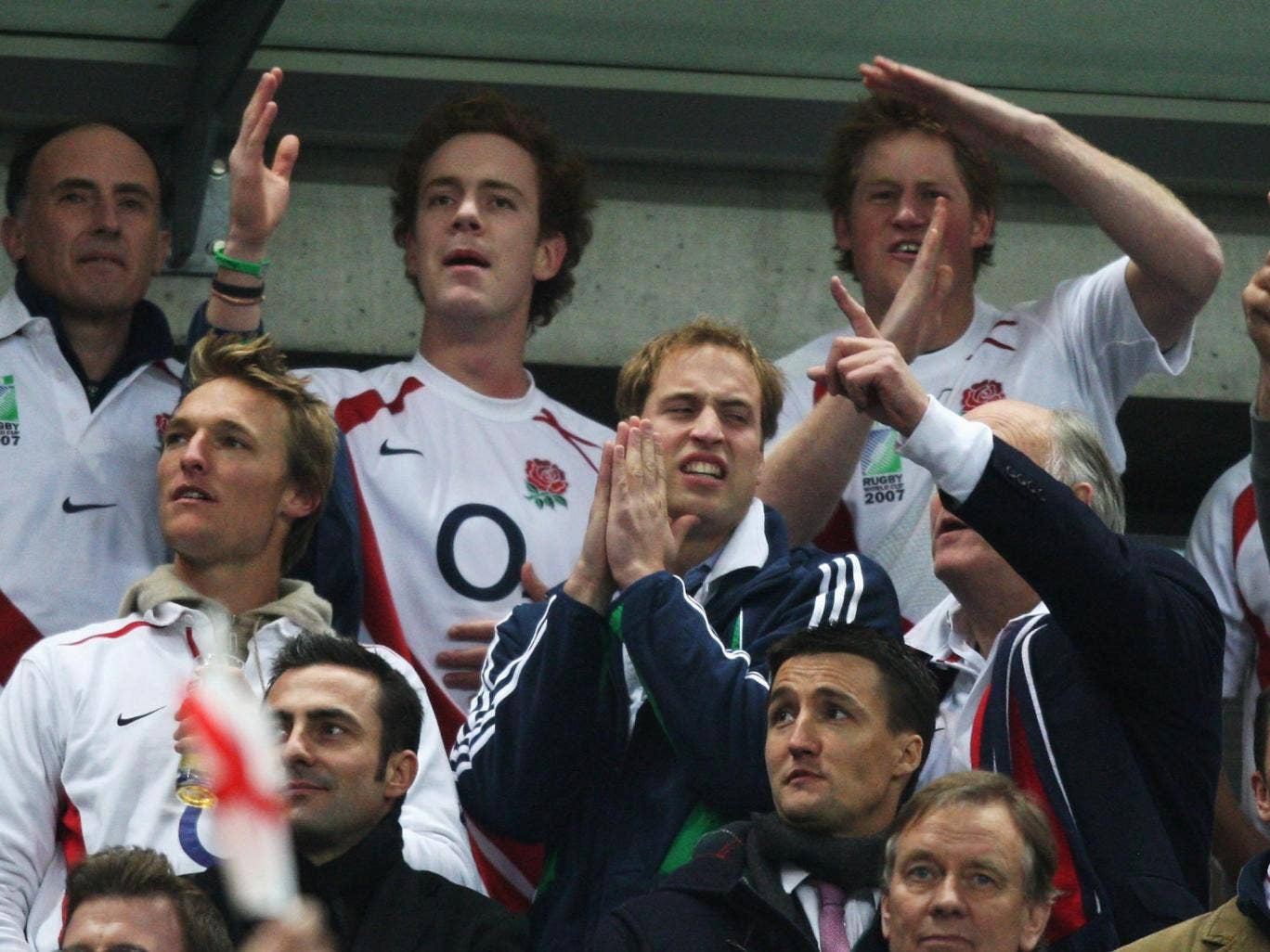 Princes William and Harry get into the swing at Twickenham