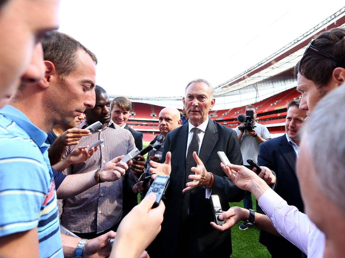 Premier League chief executive Richard Scudamore, who is under pressure to resign over emails leaked by his former PA