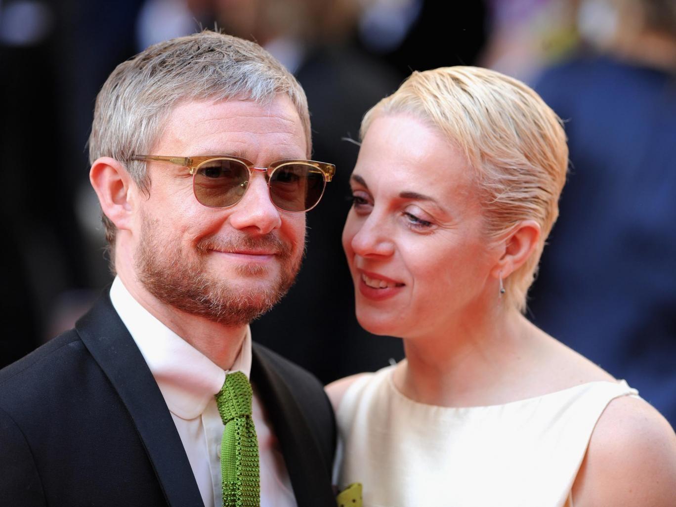 Martin Freeman and Amanda Abbington attend the Arqiva British Academy Television Awards at Theatre Royal
