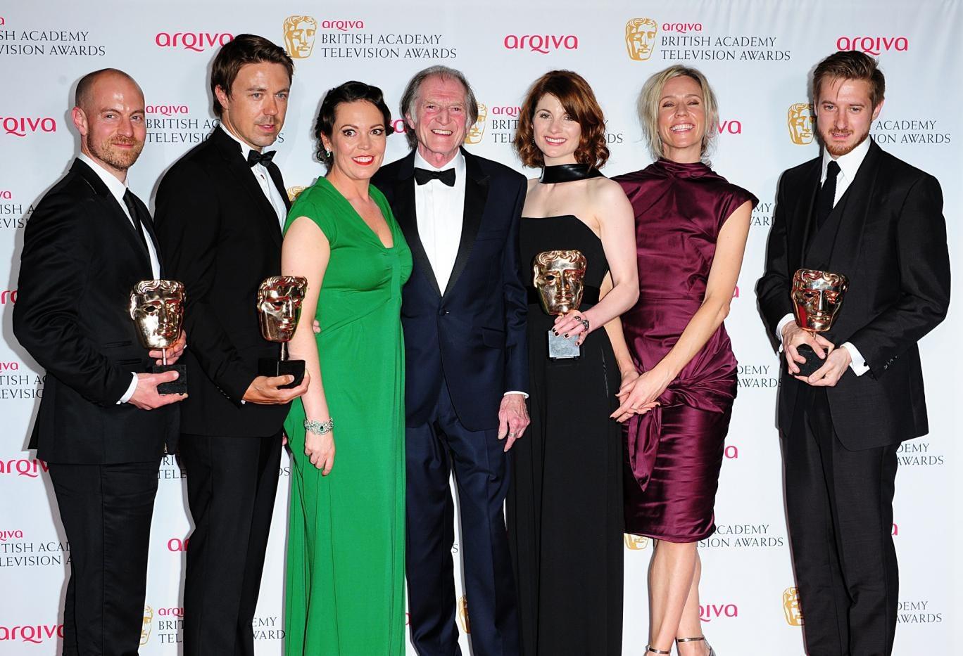 The cast of ITV drama series Broadchurch, which won three TV Baftas