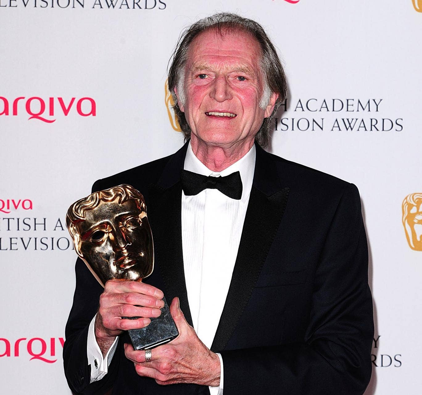 David Bradley with his Best Supporting Actor Bafta for his performance in Broadchurch