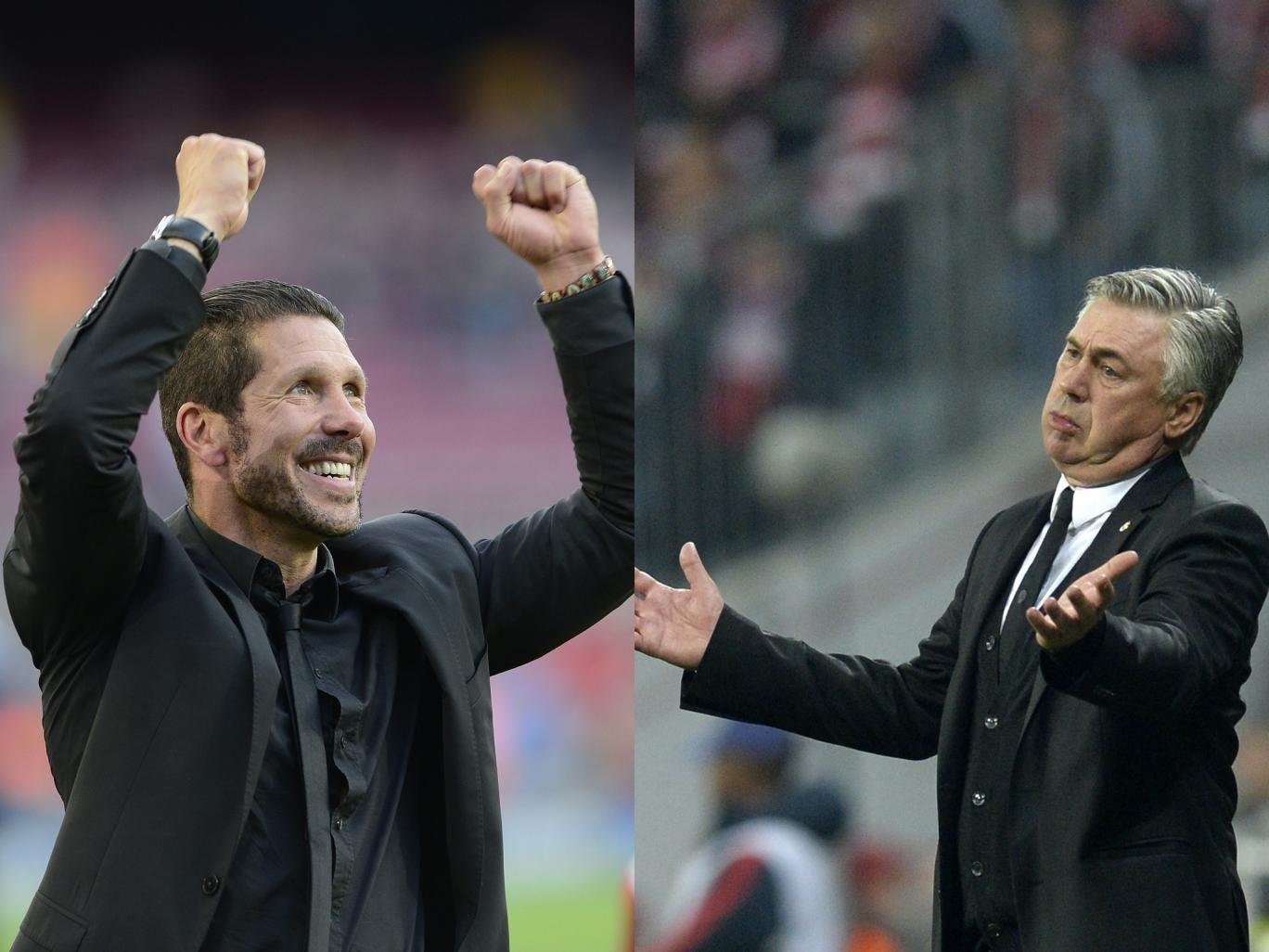 Diego Simeone and Carlo Ancelotti