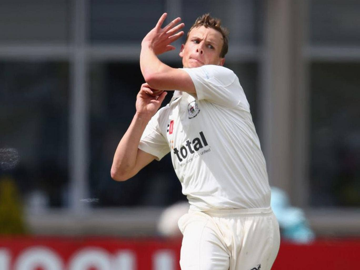 Will Gidman took 4 for 14 as Kent were bowled out for 114
