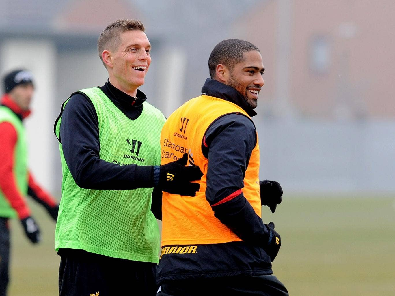 Daniel Agger and Glen Johnson in training together early this season