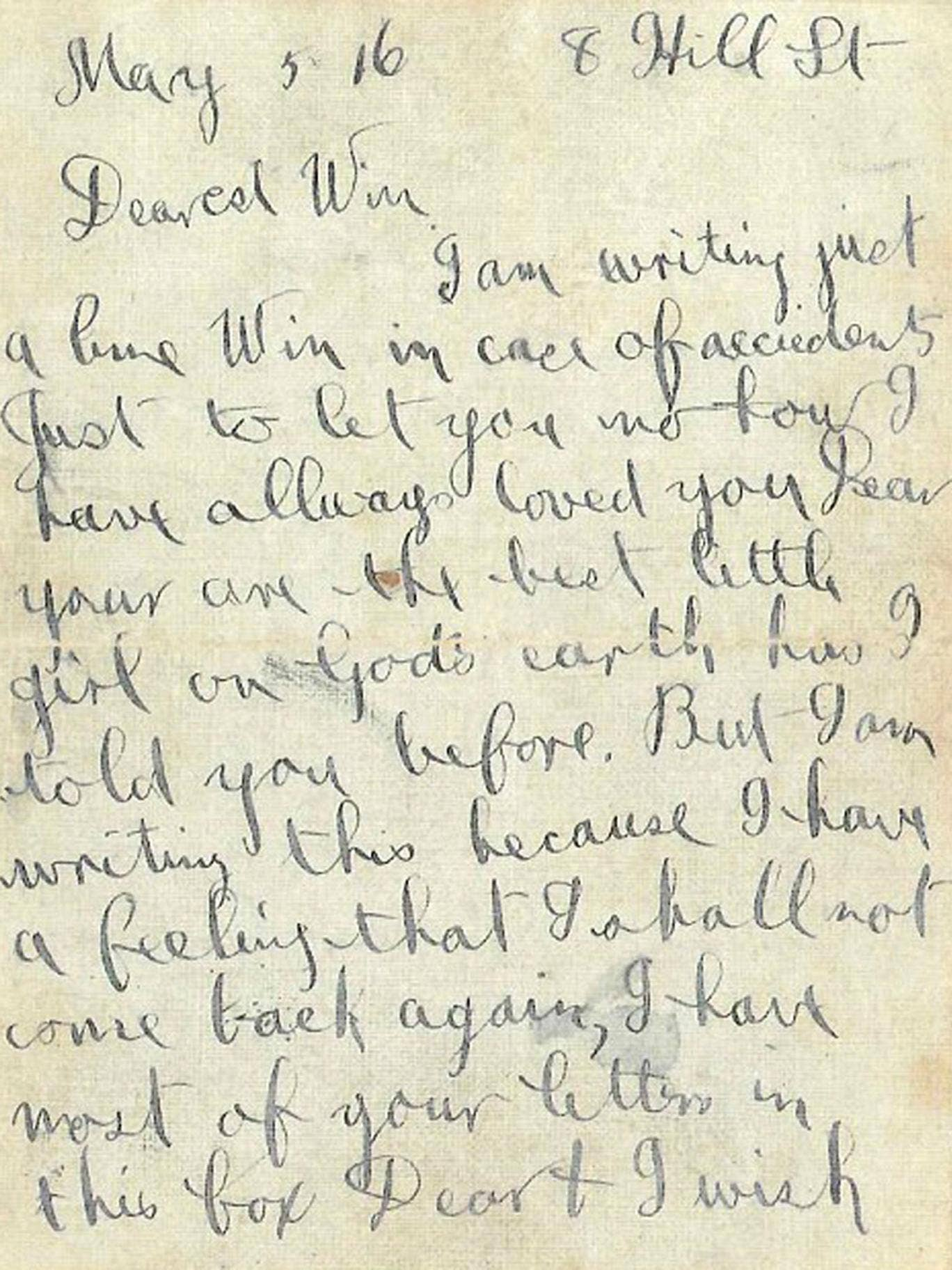 The tear-stained letter