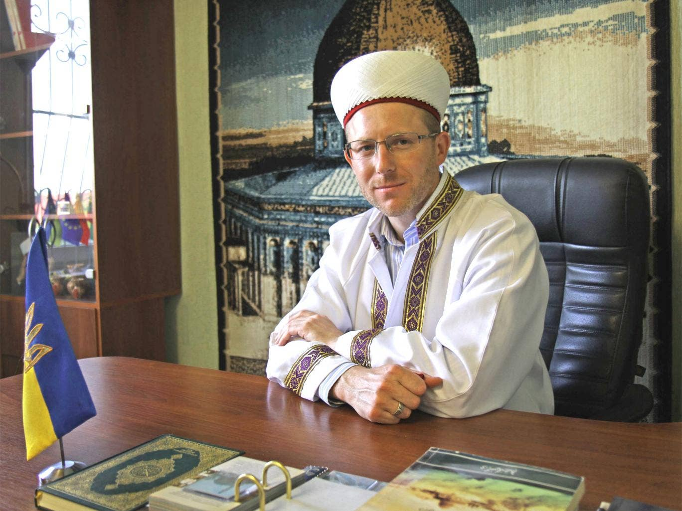 The Tatar, Sheikh Said Ismagilov: 'They are not tolerant to Muslims in Russia because of two Chechen wars. Muslims are associated with terrorists. It is much better here in Ukraine'