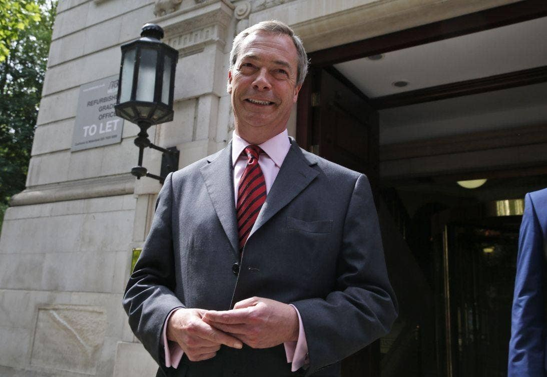 Nigel Farage is primed for success in the European elections tomorrow