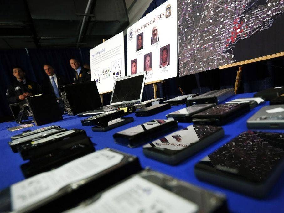 Hard drives, computers and other electronic devices seized as part of Operation Caireen