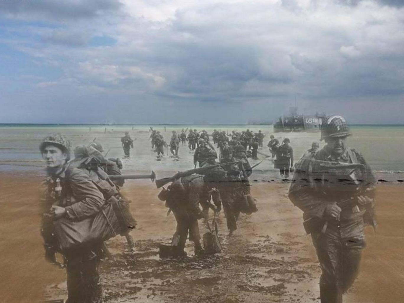 Landing Day: Special engineer brigade landing on Omaha beach D-Day afternoon 1944 – 2014