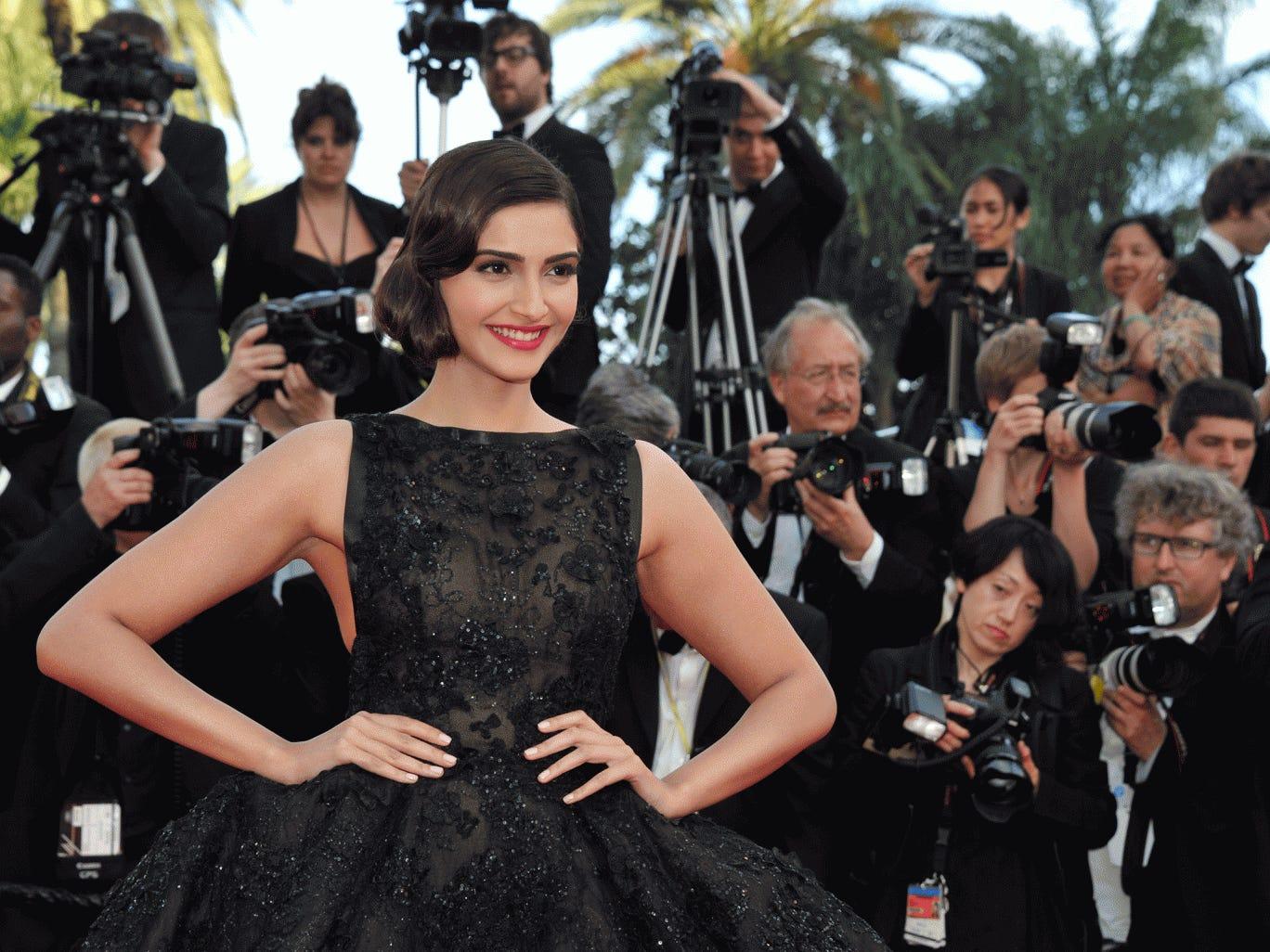 Sonam Kapoor attends the Cannes Film Festival 2014