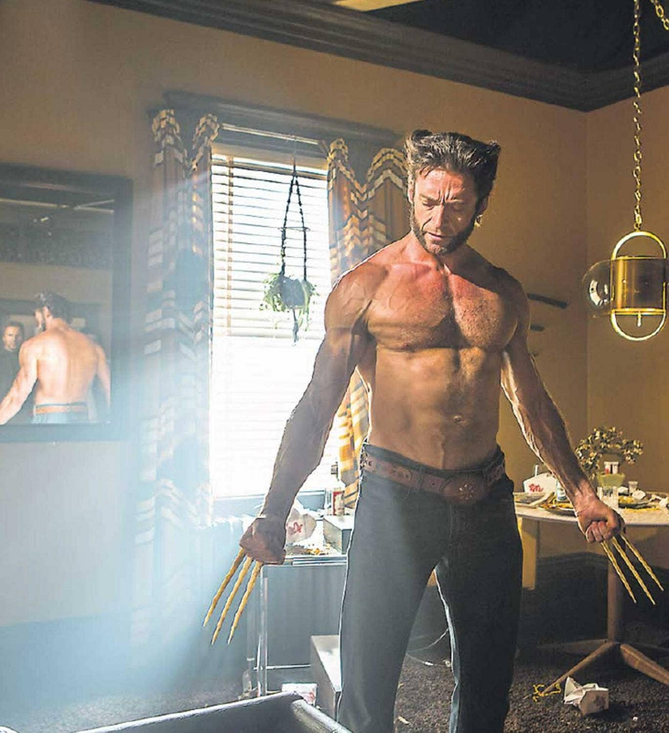 Claw, blimey: Hugh Jackman stars as Wolverine in 'X-Men: Days of Future Past'