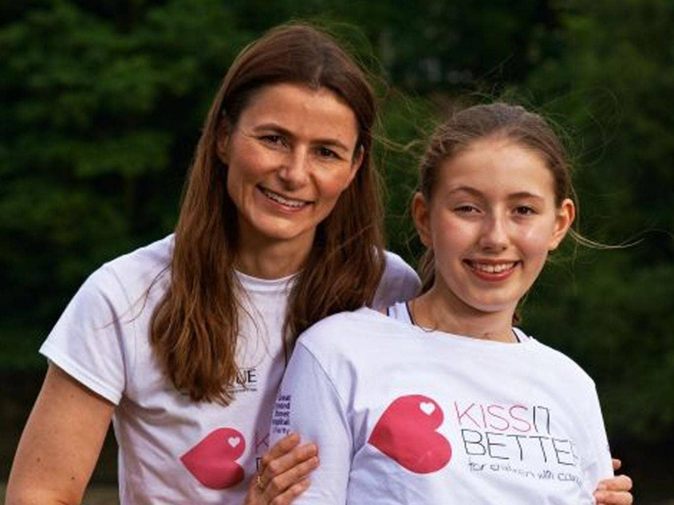 "Carmel, from London, founded the ""Kiss it Better"" appeal after her daughter Josephine was treated at Great Ormond Street Hospital for neuroblastoma, a rare childhood cancer. Today, 10 years later, Josephine is a healthy 12-year-old, and they have raised £"