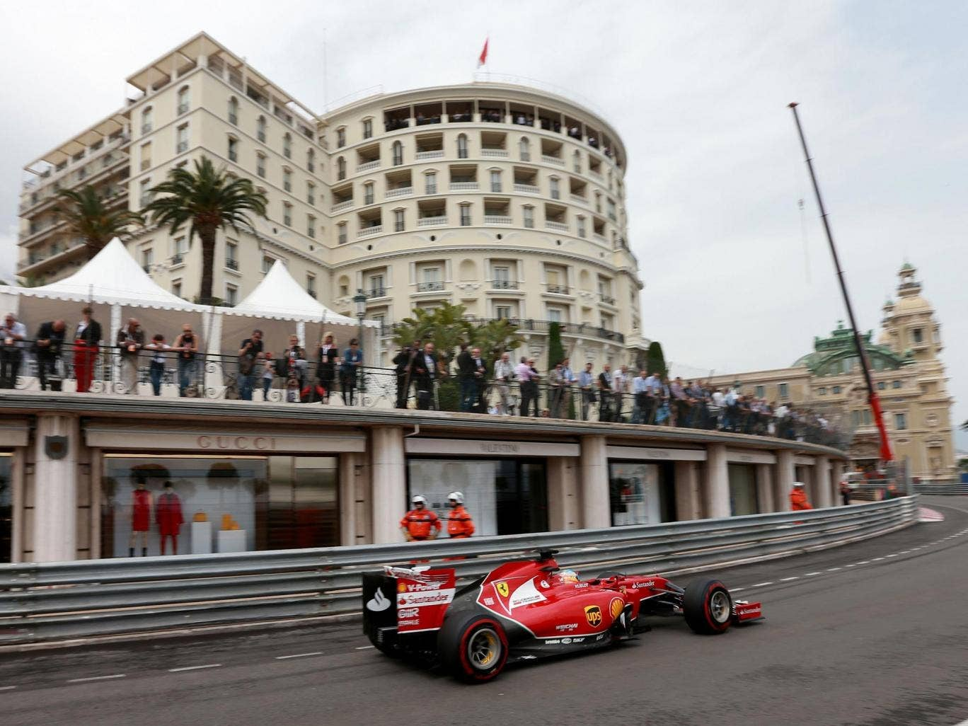 Fernando Alonso set the fastest practice time in Monaco yesterday