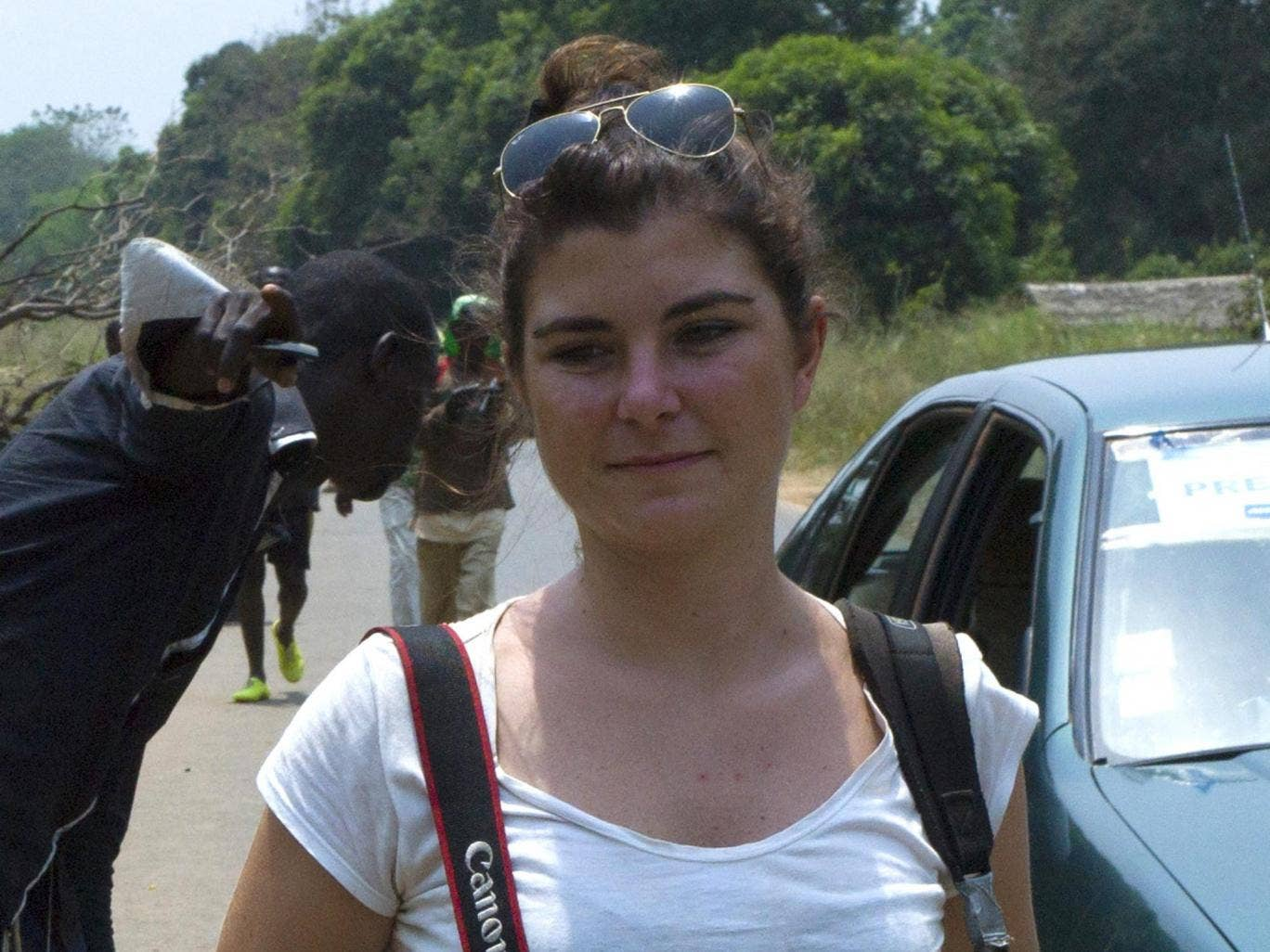 Camille Lepage in Damara in the Central African Republic in February