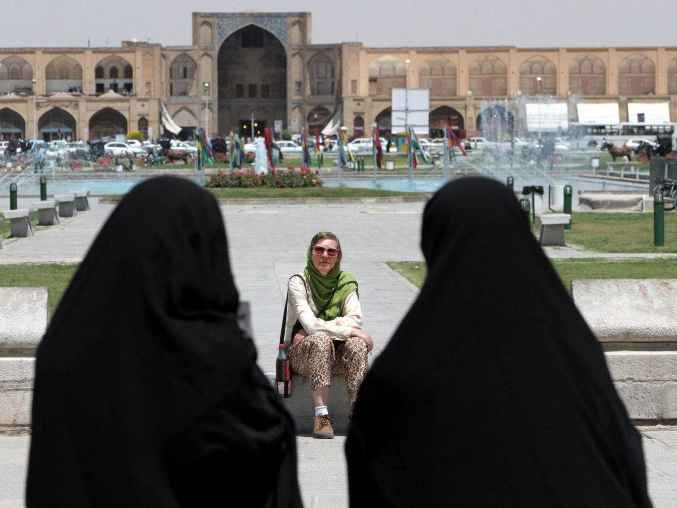 A tourist in Isfahan, some 400km south of the Iranian capital, Tehran.