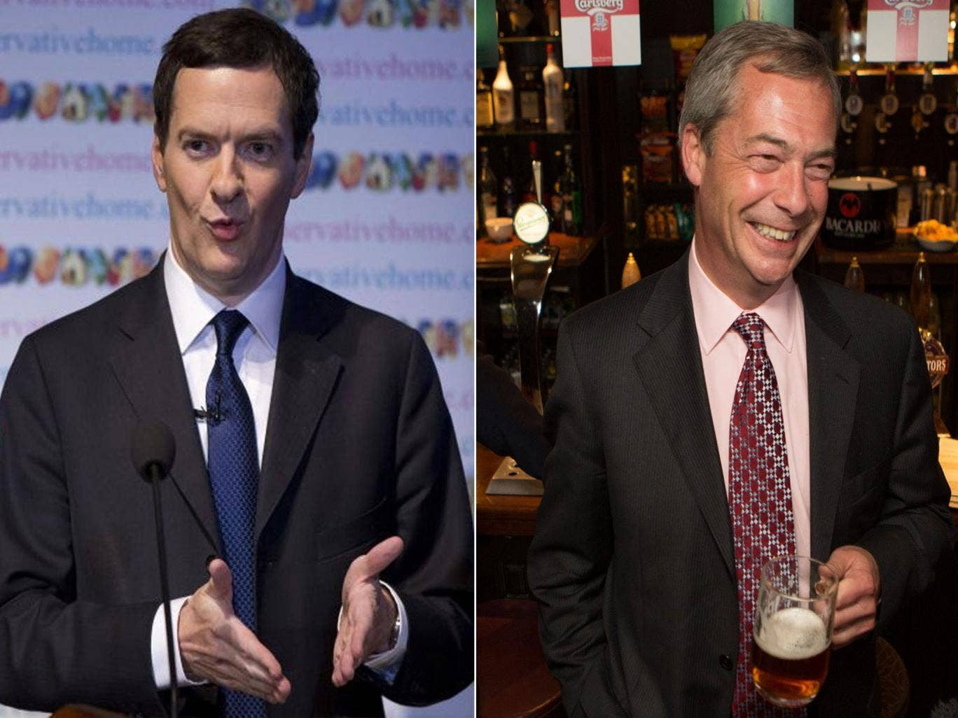 """George Osborne has said he respects Nigel Farage and urged the Conservatives to listen to the """"anger and anxiety"""" across the country after the Ukip leader delivered the political earthquake he had promised in the local elections."""
