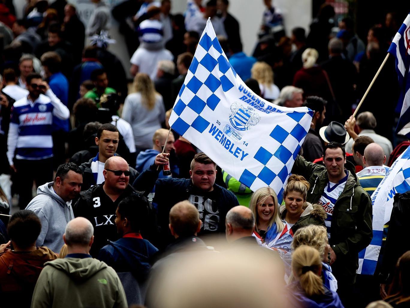 QPR fans at Wembley