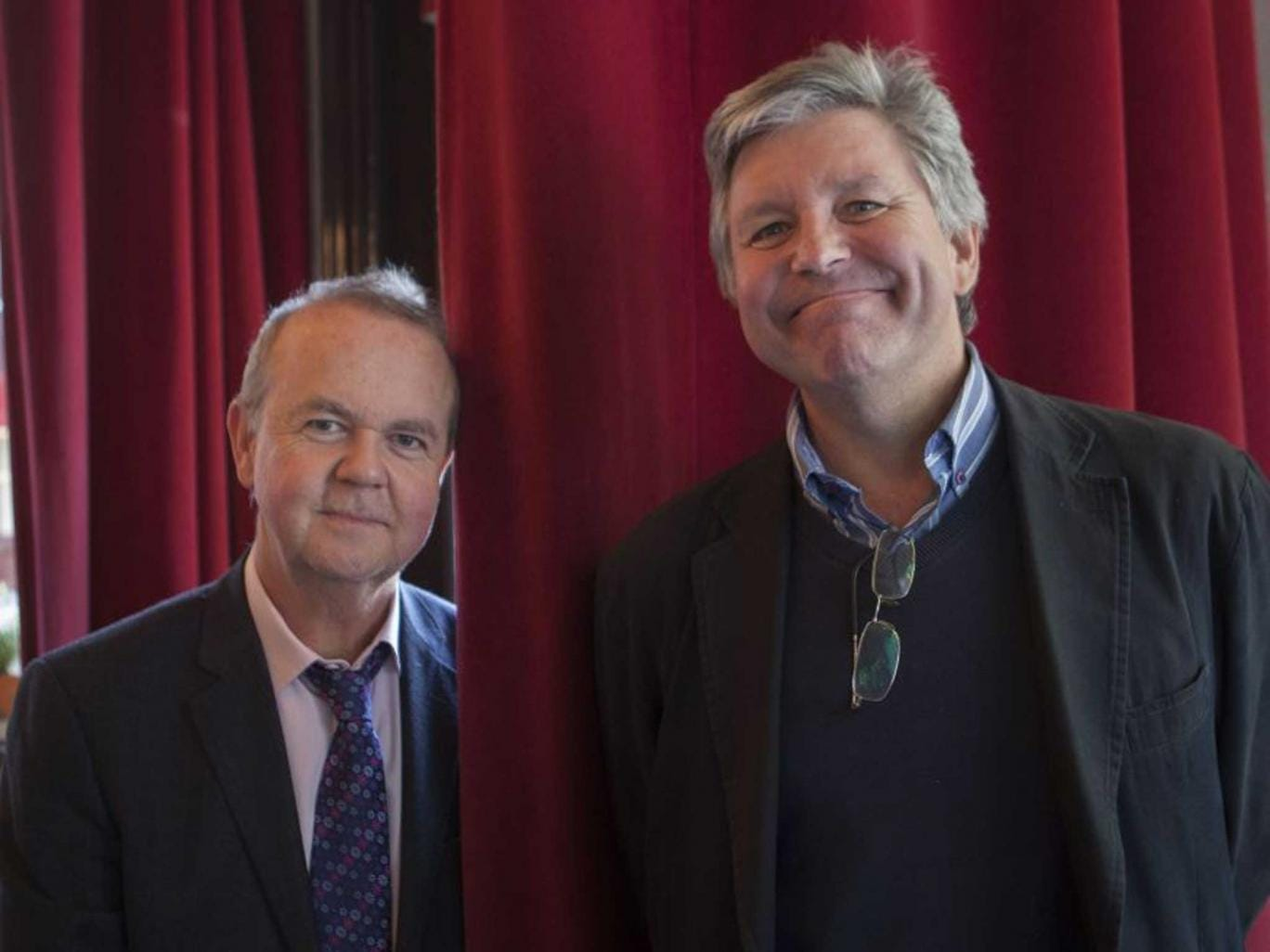 Writers' TImes: Co-authors Hislop and Newman