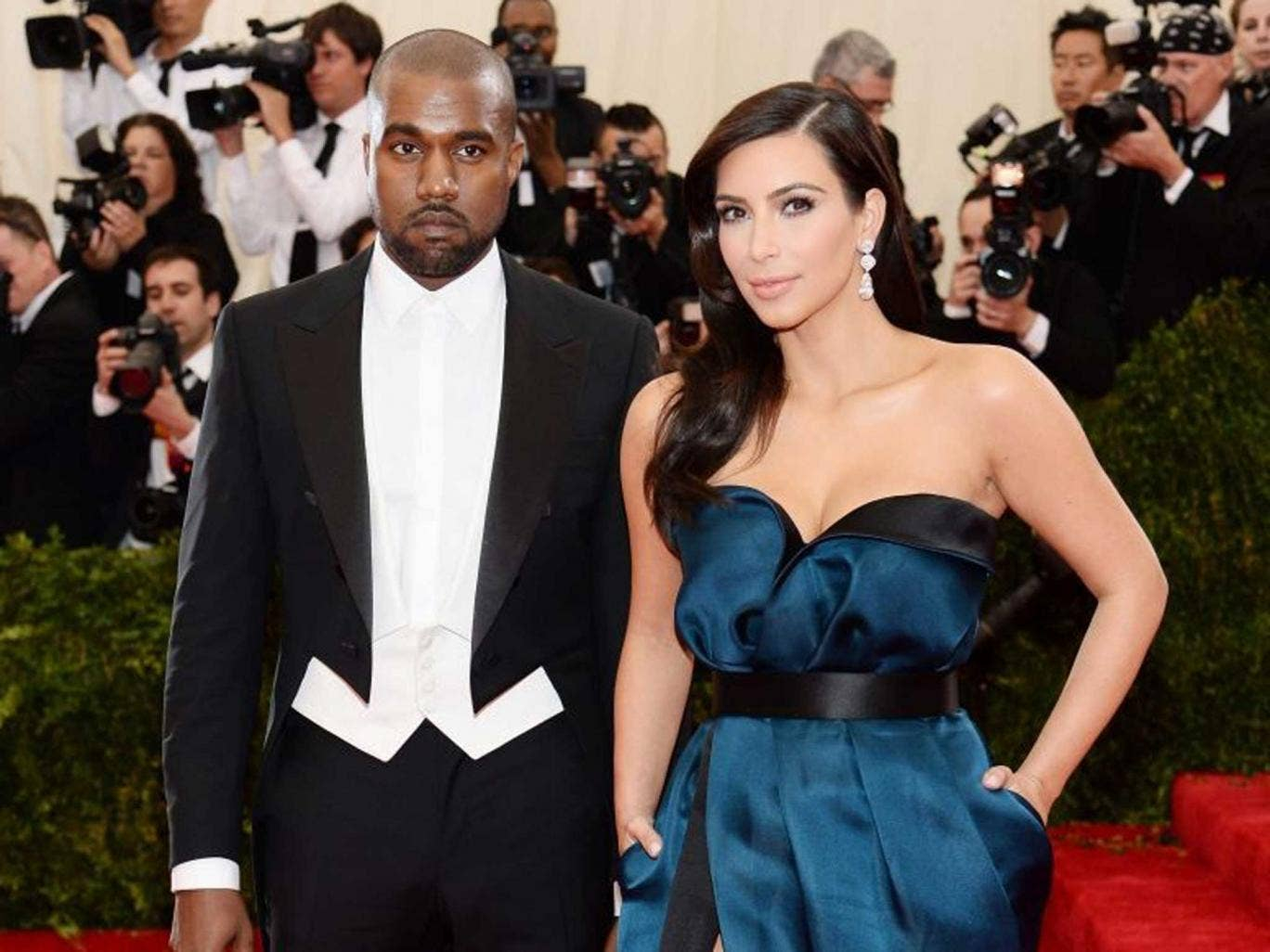 Kim Kardashian and Kanye West at the Met Ball this year