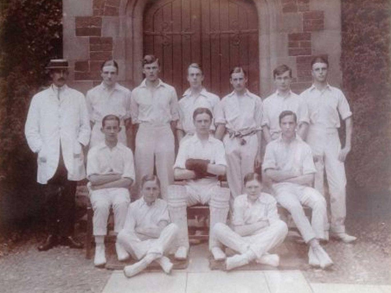 Survivor: Percy Chapman of Oakham (bottom right) went on to captain England