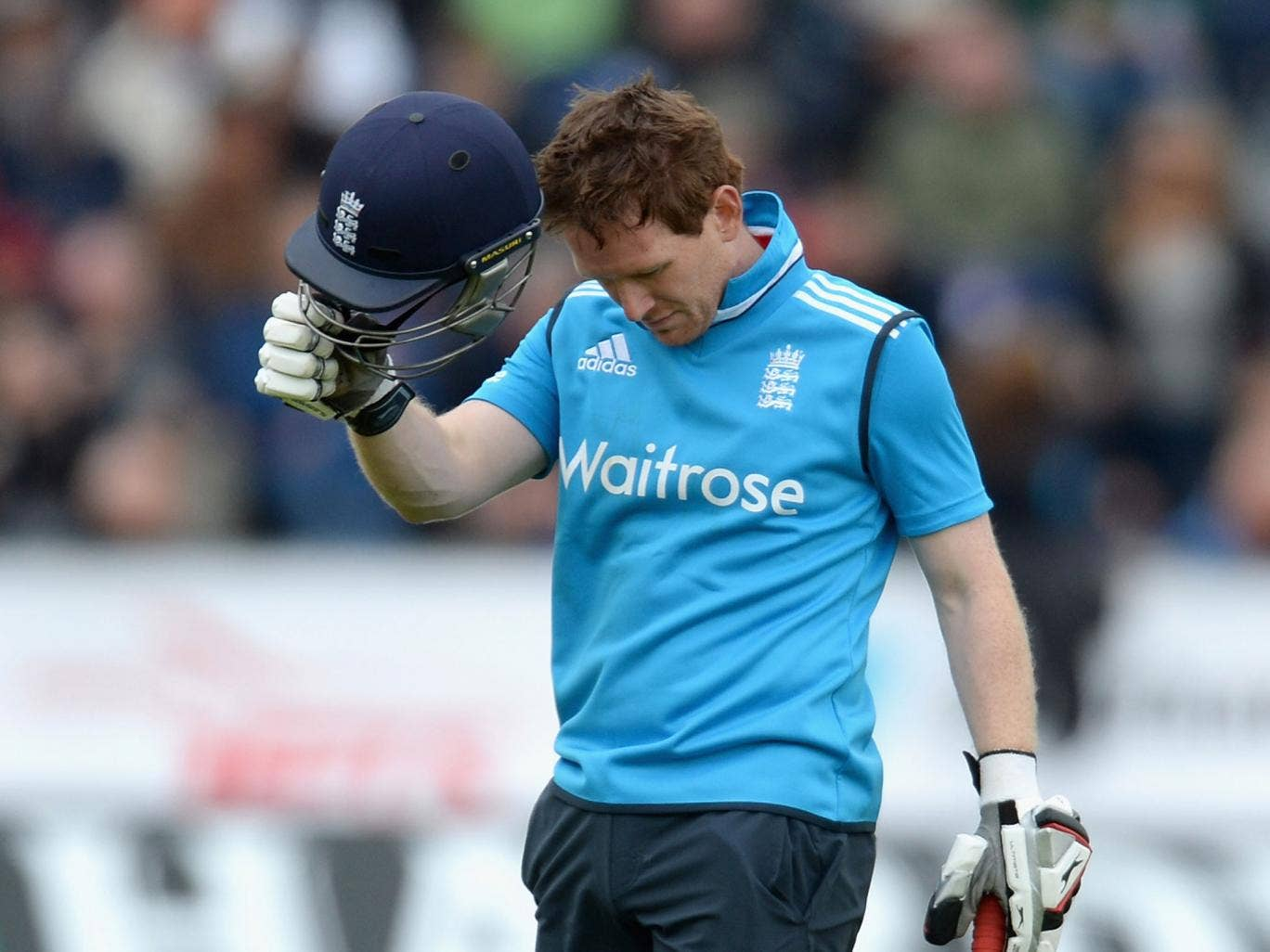 Eoin Morgan top-scored for England with 40 runs in the defeat