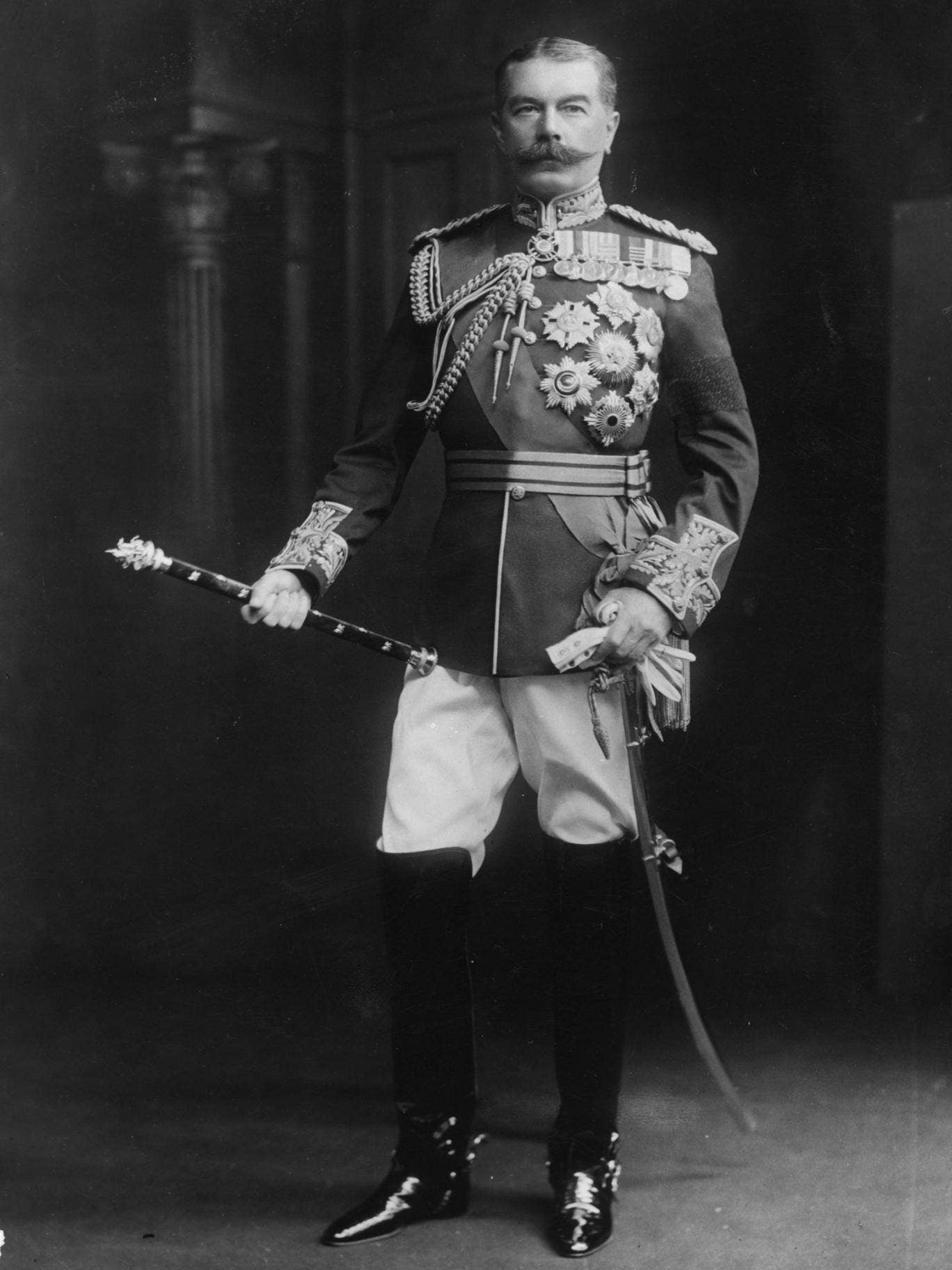 Field Marshal Horatio Herbert Kitchener, whose face appeared on the recruitment poster 'Your Country Needs You'