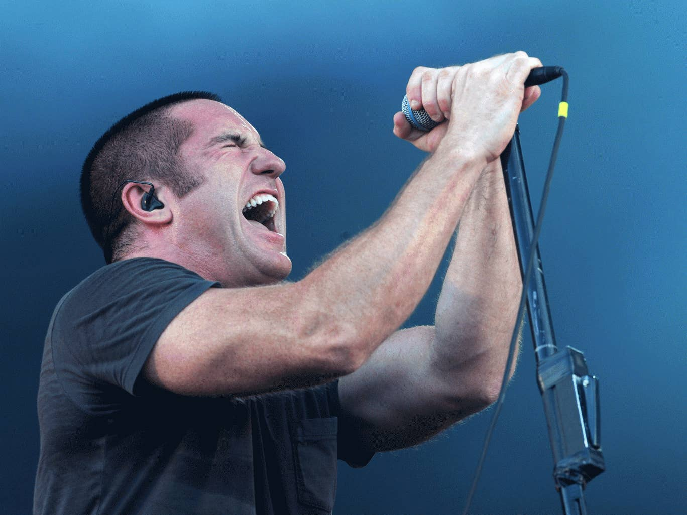 Trent Reznor of Nine Inch Nails, here seen performing at Sonisphere Festival in 2009