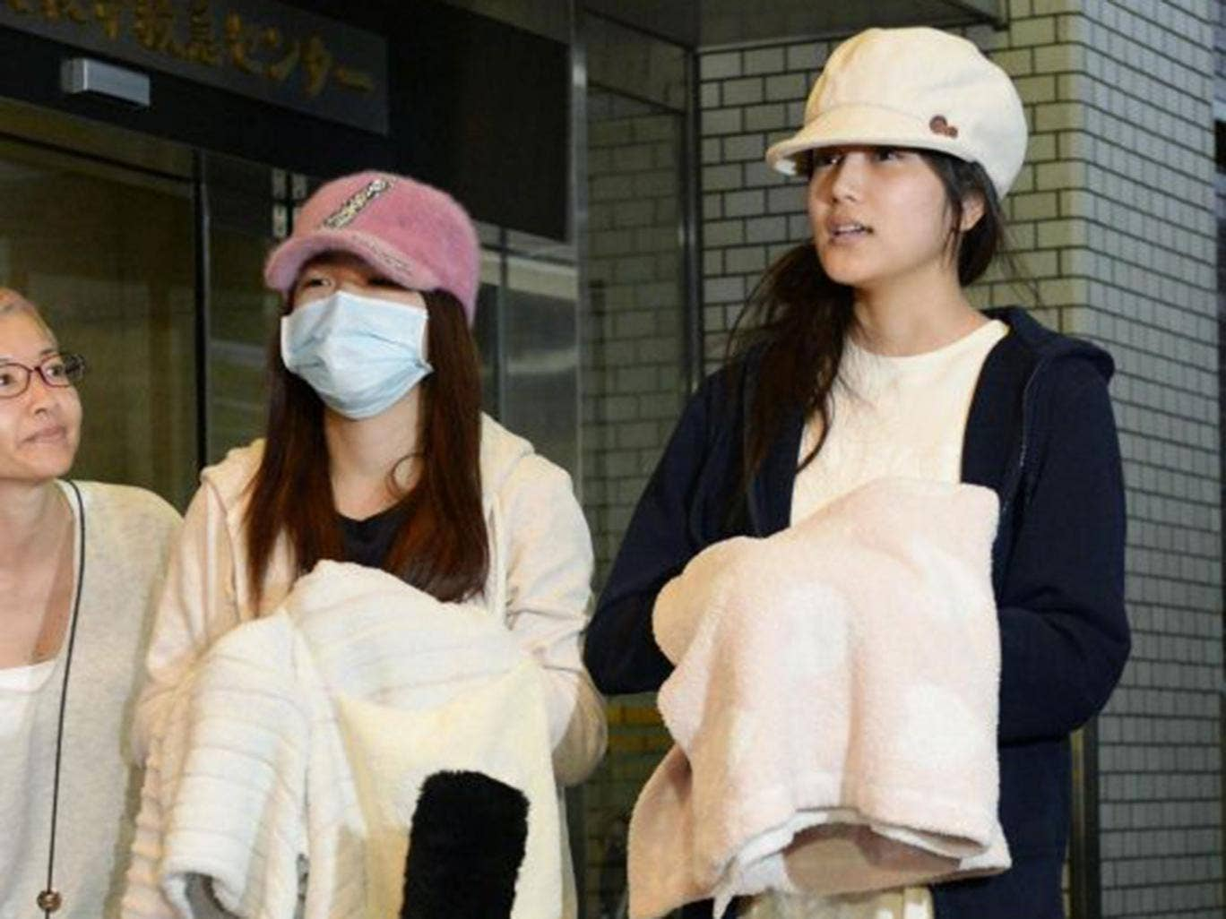 Rina Kawaei and Anna Iriyama were discharged from hospital