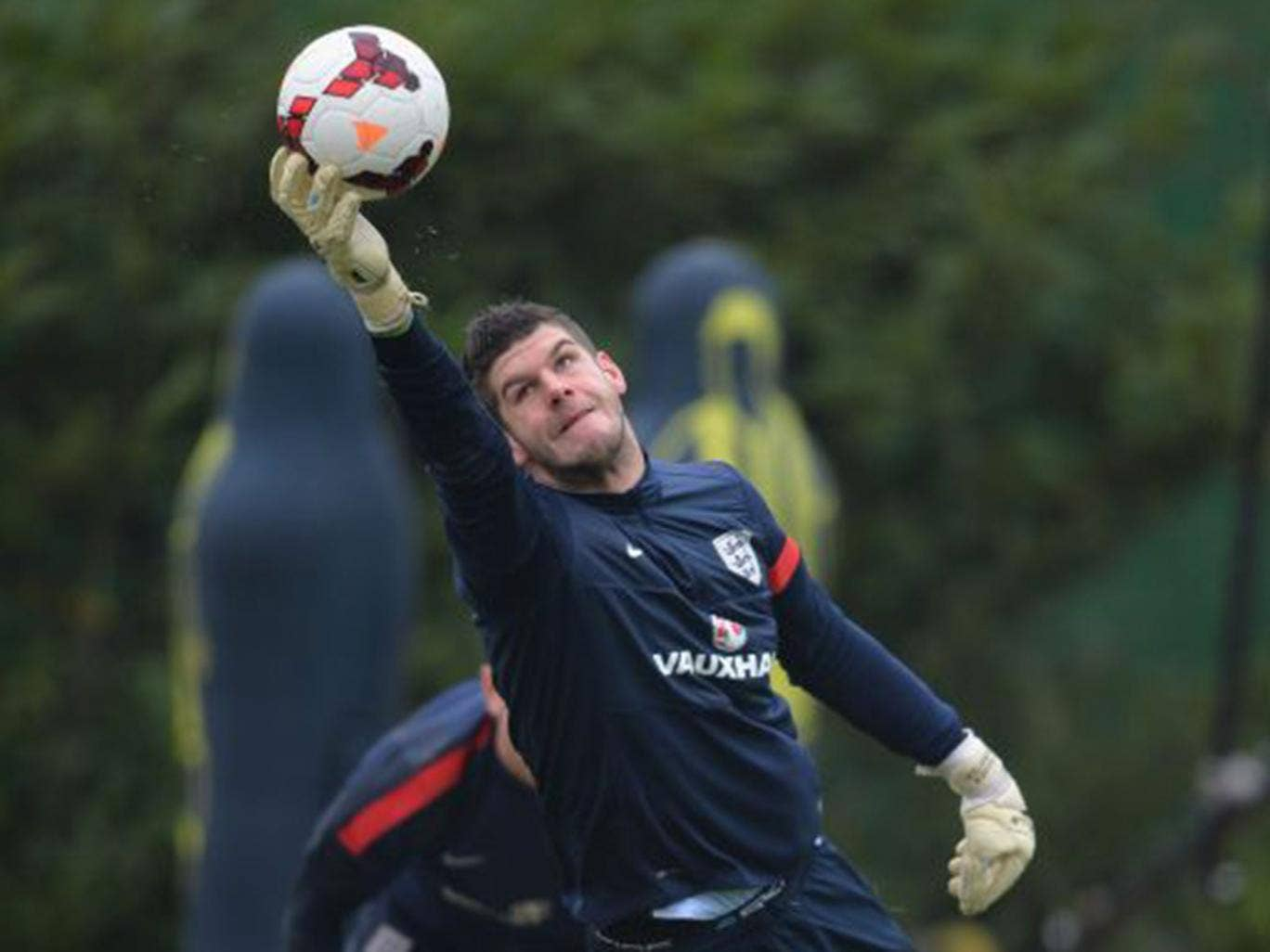 Celtic goalkeeper Fraser Forster is the only member of the England squad who plays 'abroad'