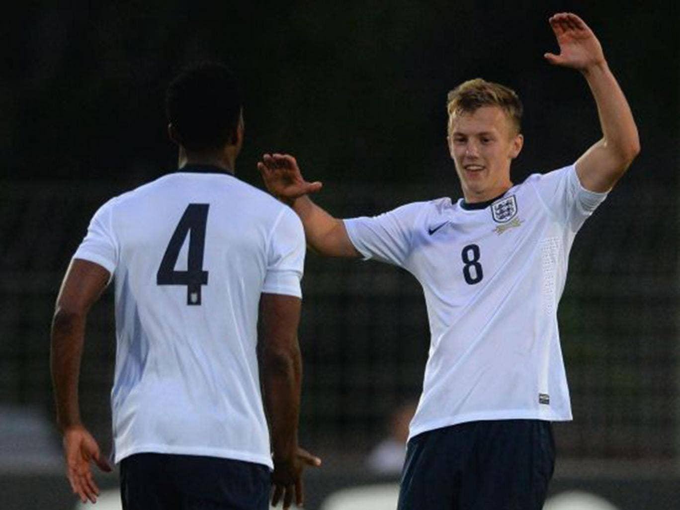 Nathaniel Chalobah celebrates with James Ward-Prowse, right
