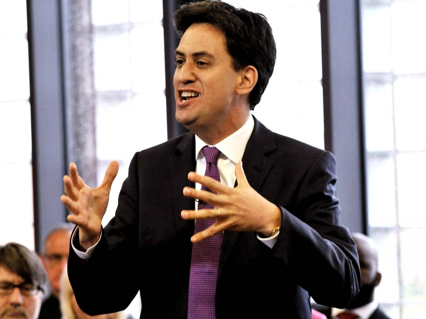Labour leader Ed Miliband says his party need to talk about immigration 'in a postivie way'