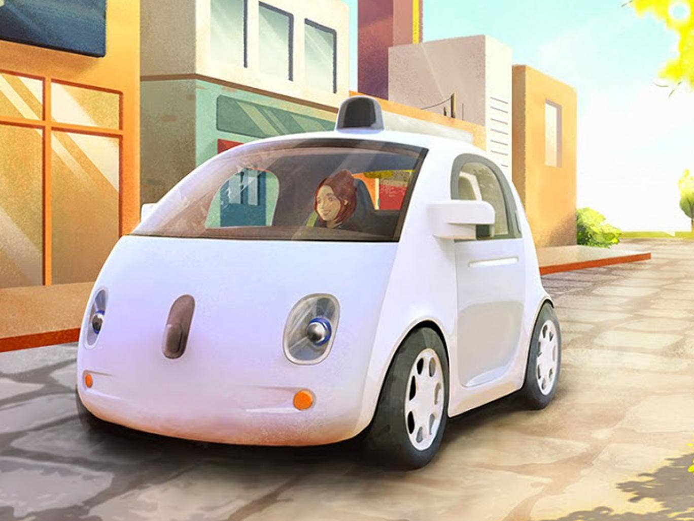 An artist's impression of the Google car