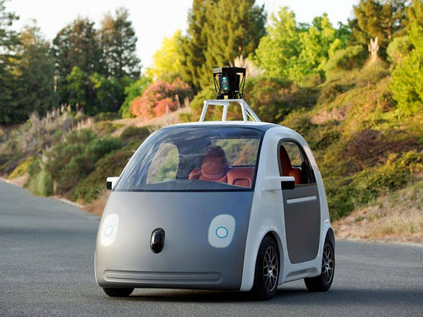 An of an early version of Google's prototype vehicle