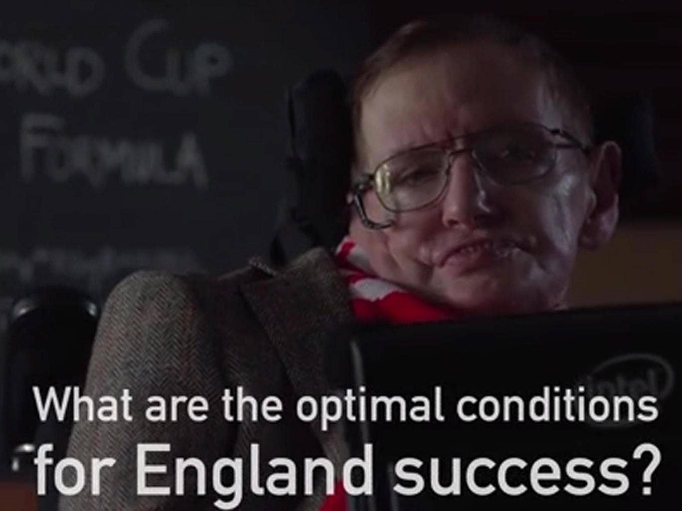 Professor Stephen Hawking shares World Cup data and explains England's best chances of winning