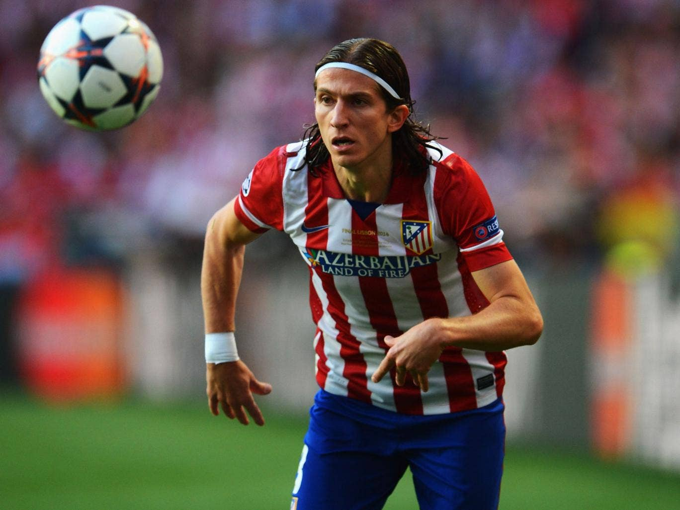 Filipe Luis in action for Atletico Madrid during last weekend's Champions League final defeat by Real Madrid in Lisbon