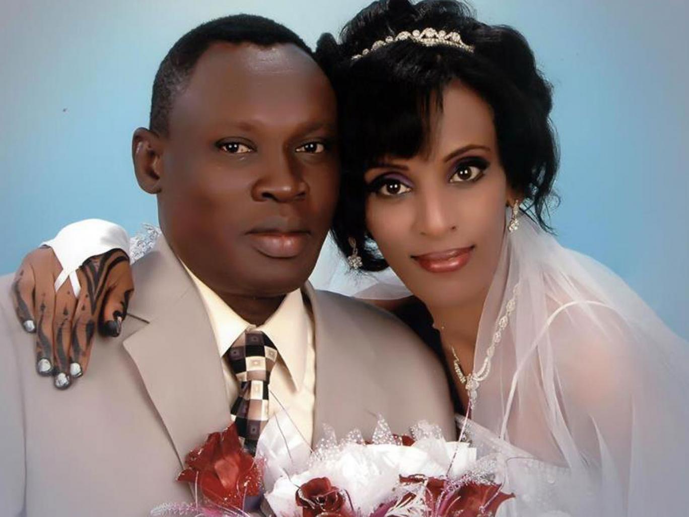 Meriam Ibrahim with her husband Daniel Wani