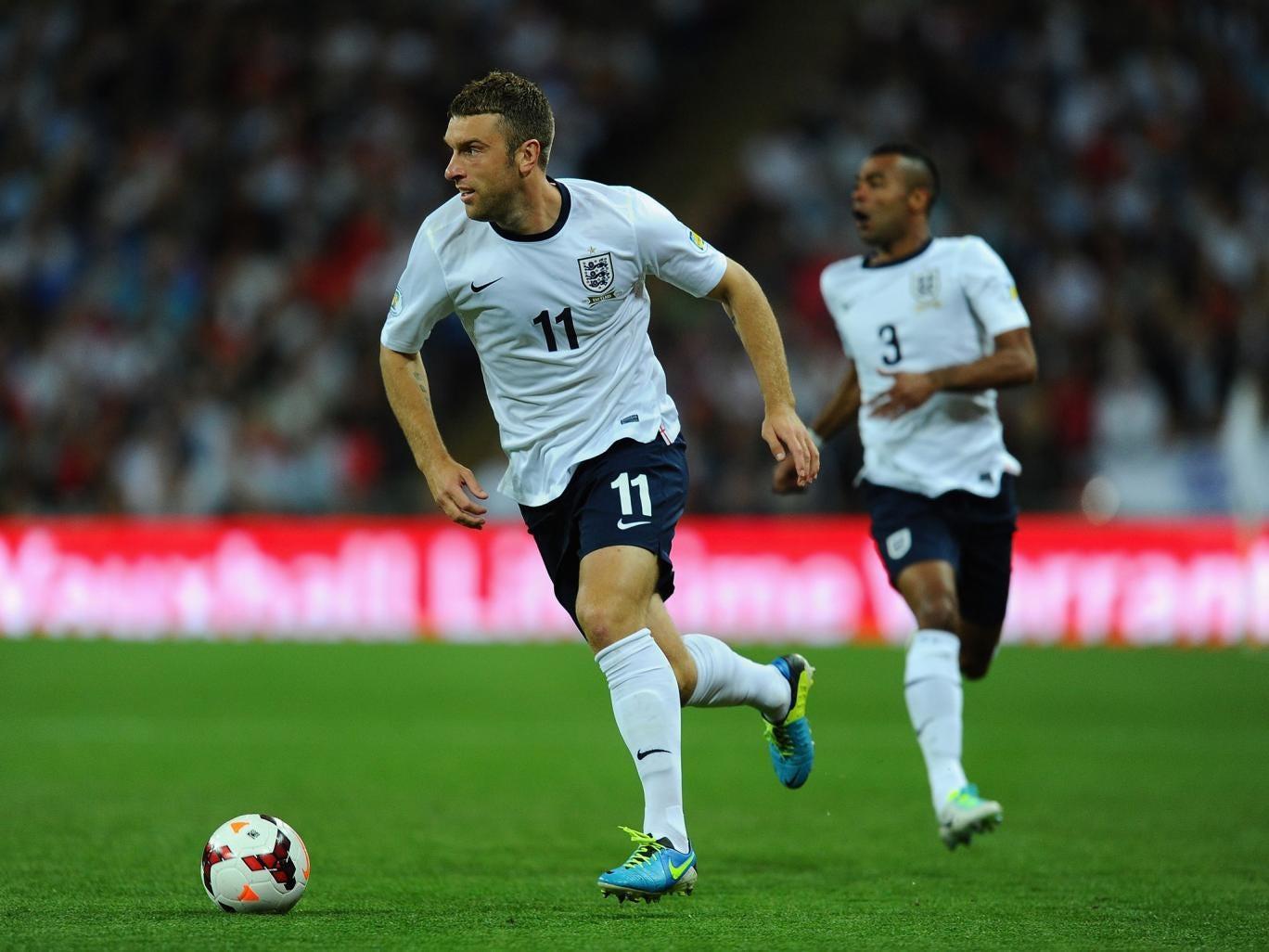 England striker Rickie Lambert