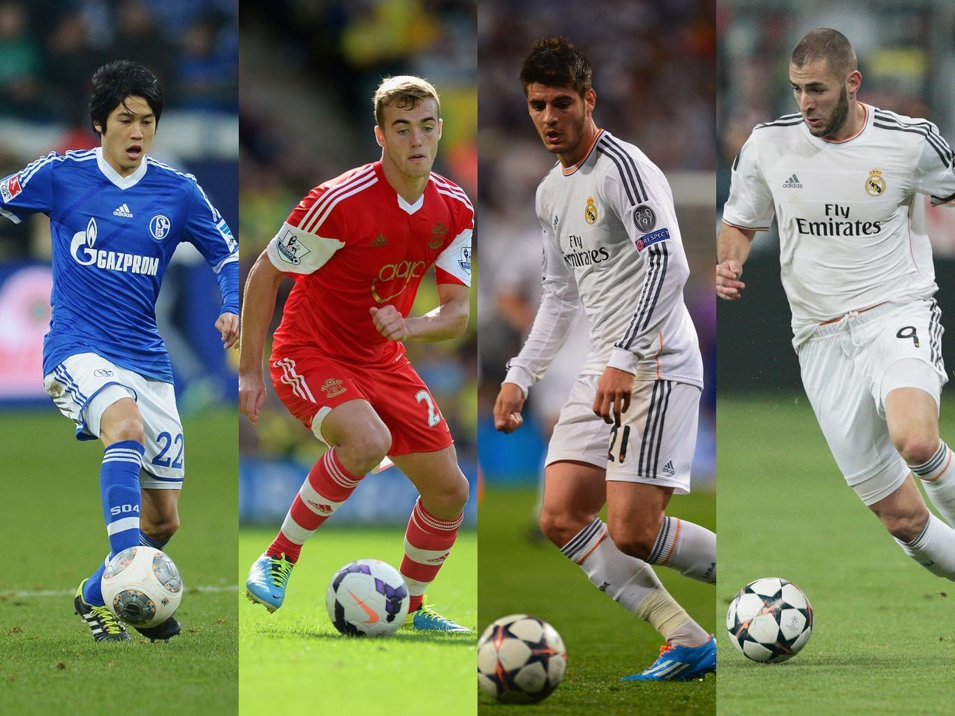 Atsuto Uchida, Callum Chambers, Alvaro Morata and Karim Benzema