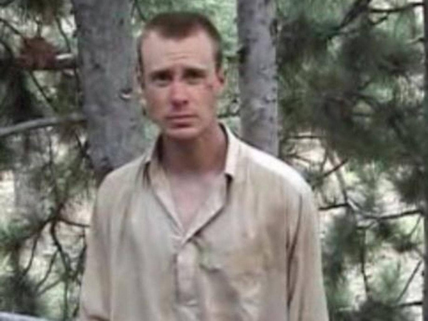 Sergeant Bowe Bergdahl pictured in a Taliban video in 2010