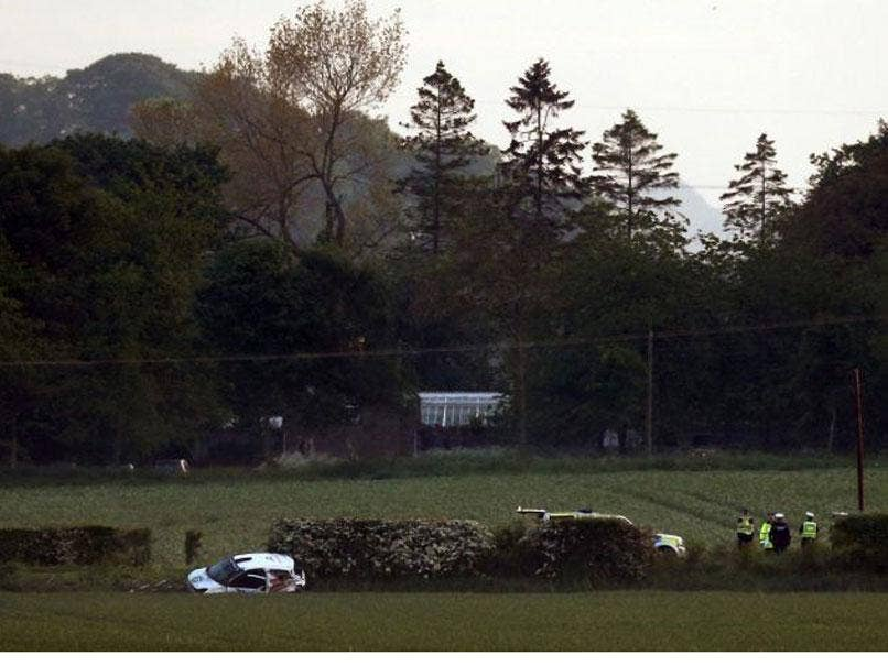 The scene of the crash at the Jim Clark Rally.
