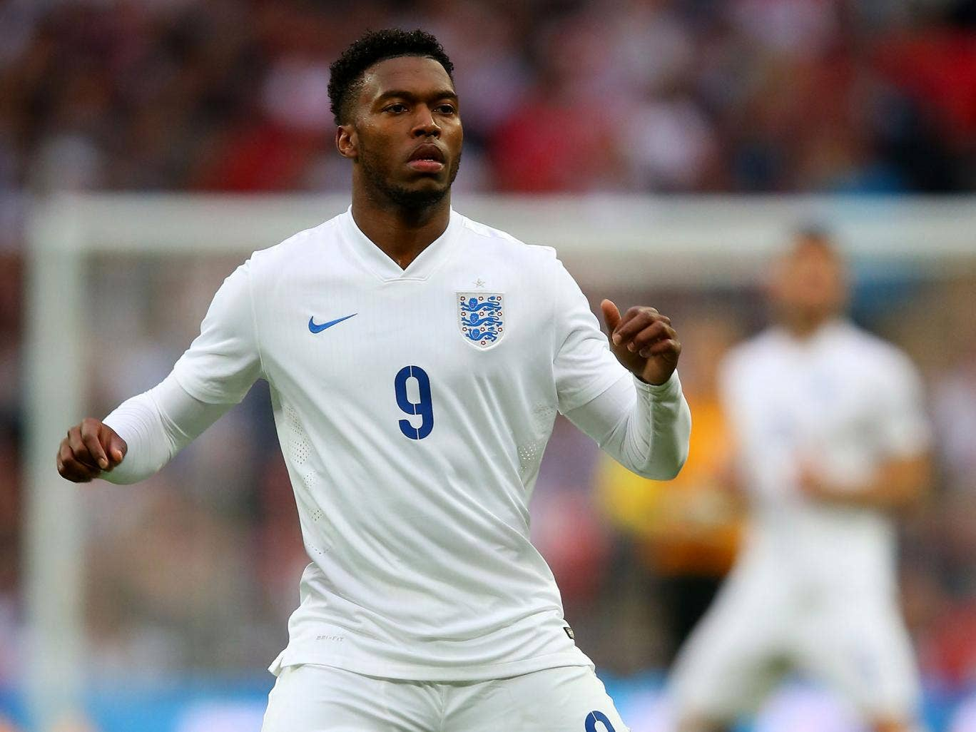 England striker Daniel Sturridge in action during the international friendly with Peru