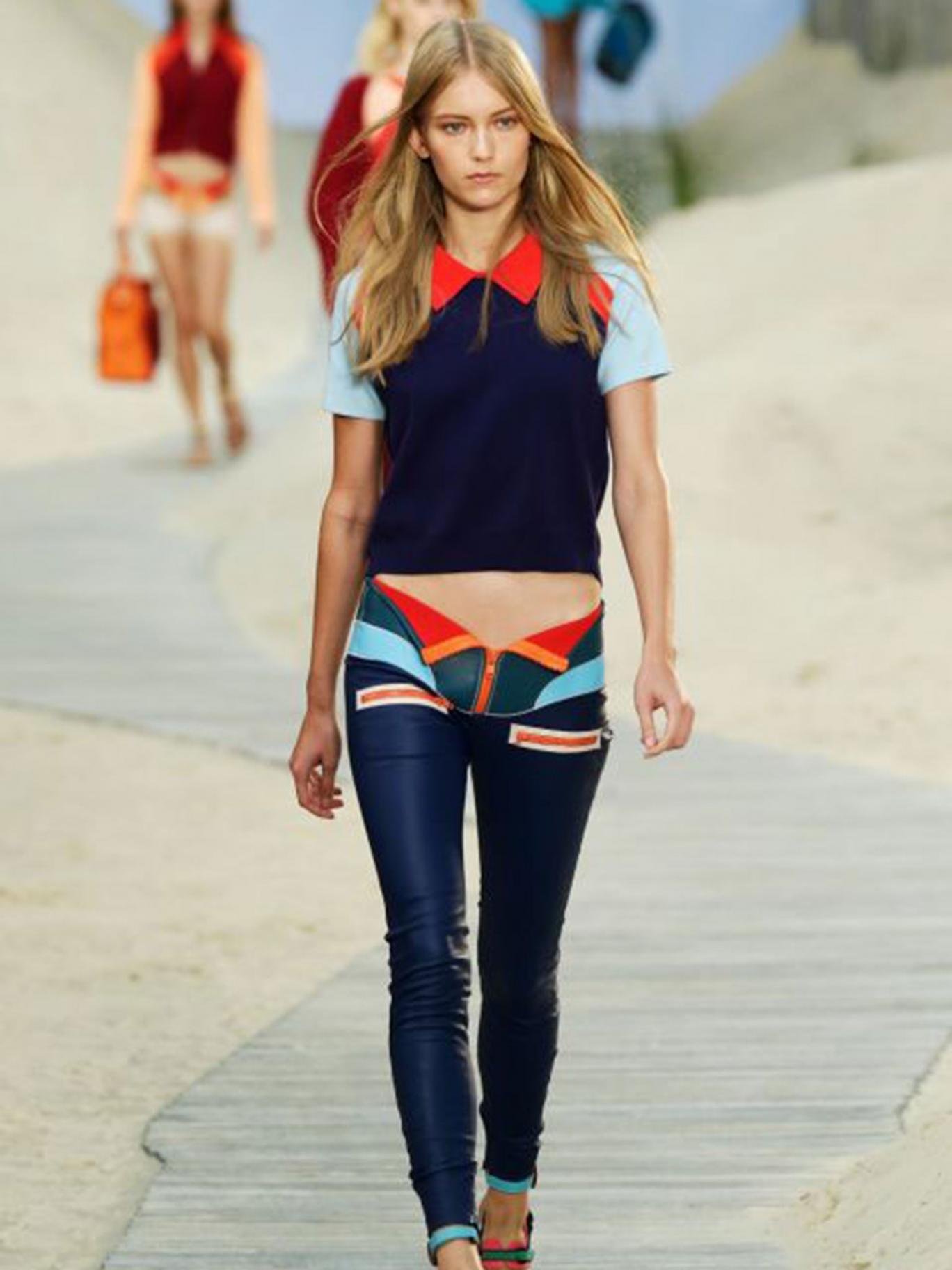 Slick look: model wears Tommy Hilfiger spring/summer14