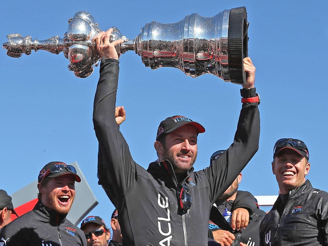 Sir Ben Ainslie played a role in Oracle Team USA's victory last year